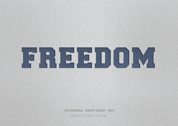Efecto de texto de libertad