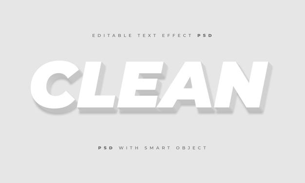 Efecto de texto limpio