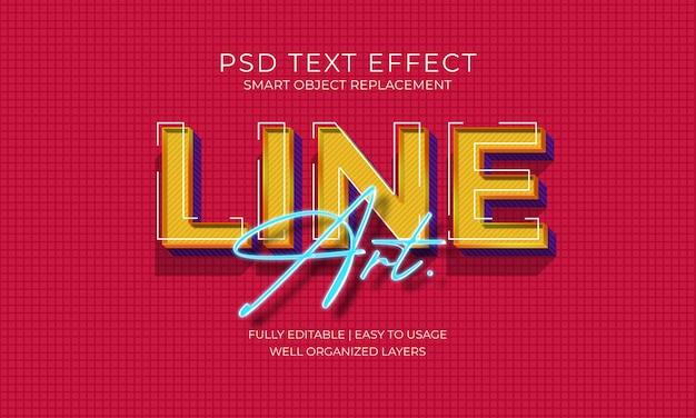 Efecto de texto de line art