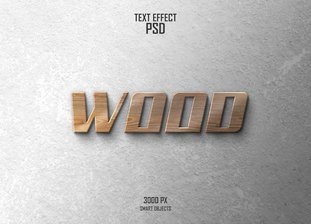 Efecto de texto de madera