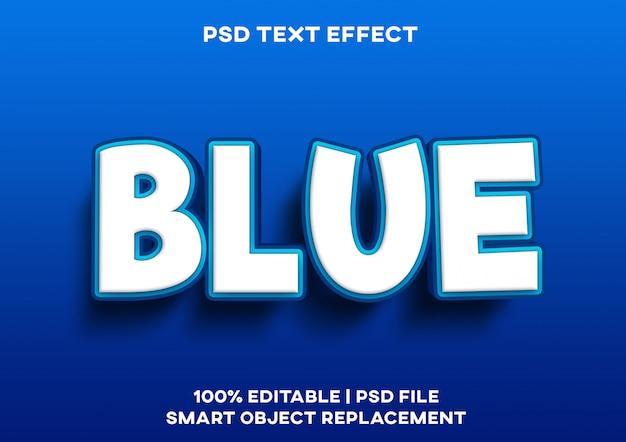 Efecto de texto de mar azul