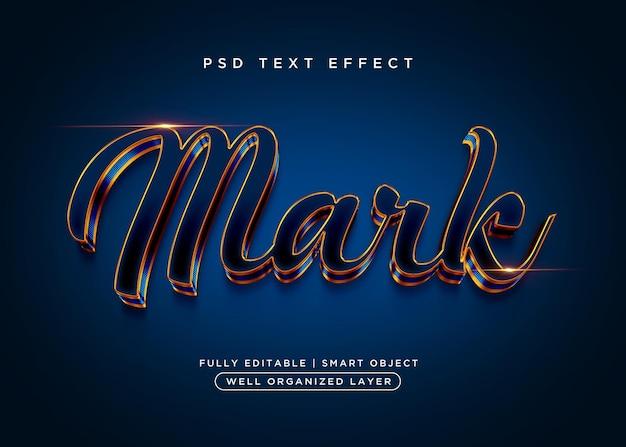Efecto de texto de marca de estilo 3d