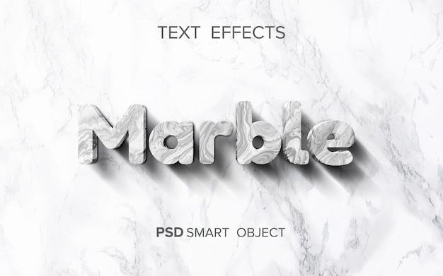 Efecto de texto de mármol abstracto