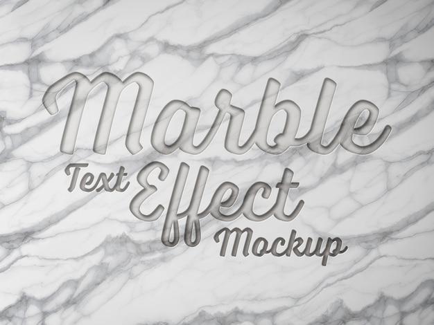 Efecto de texto de mármol grabado en 3d