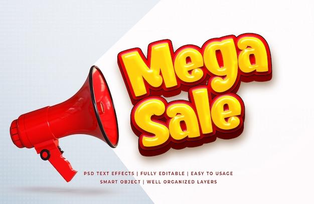 Efecto de texto mega venta