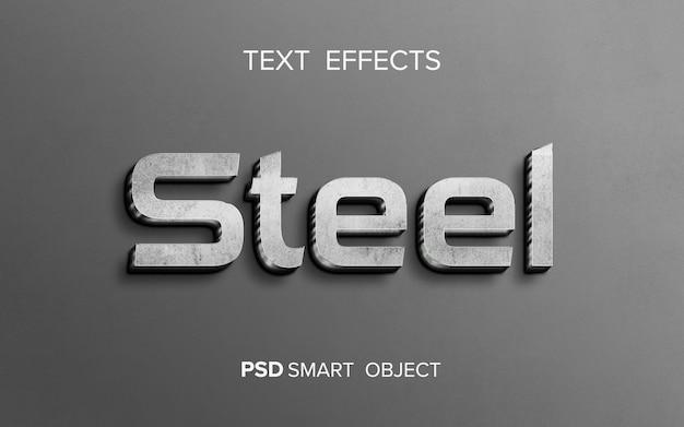 Efecto de texto de metal brillante