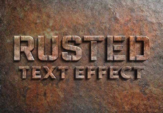 Efecto de texto de metal oxidado