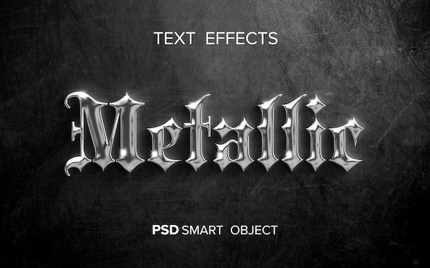 Efecto de texto metálico creativo