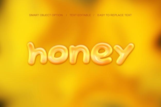 Efecto de texto de miel