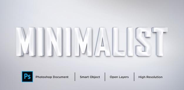 Efecto de texto minimalista