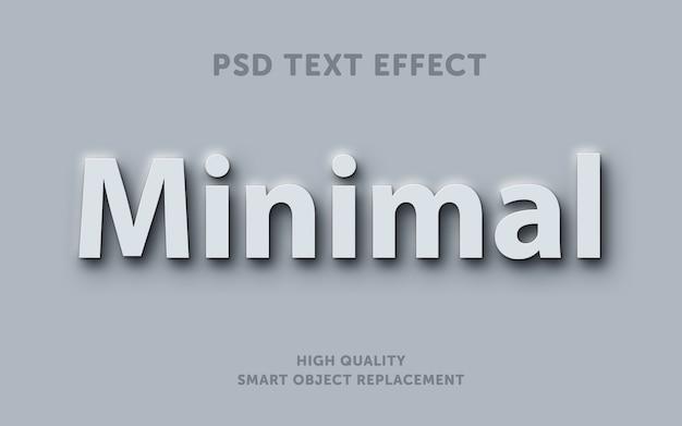 Efecto de texto mínimo blanco