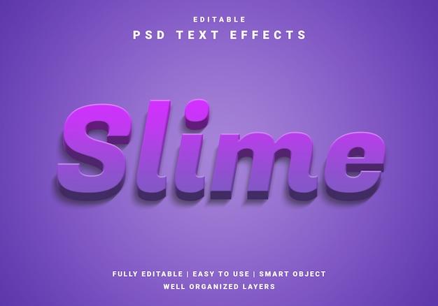 Efecto de texto moderno 3d slime