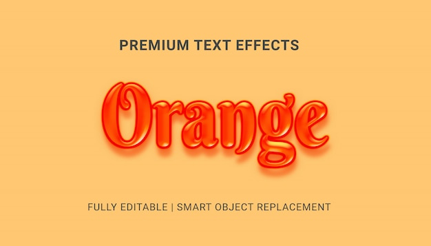 Efecto de texto naranja
