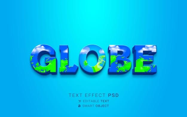 Efecto de texto de naturaleza creativa.