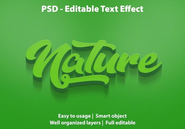 Efecto de texto de la naturaleza