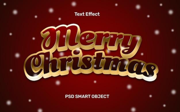 Efecto de texto de navidad realista