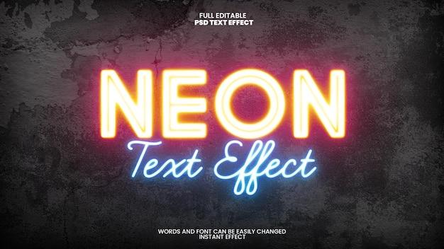 Efecto de texto de neón