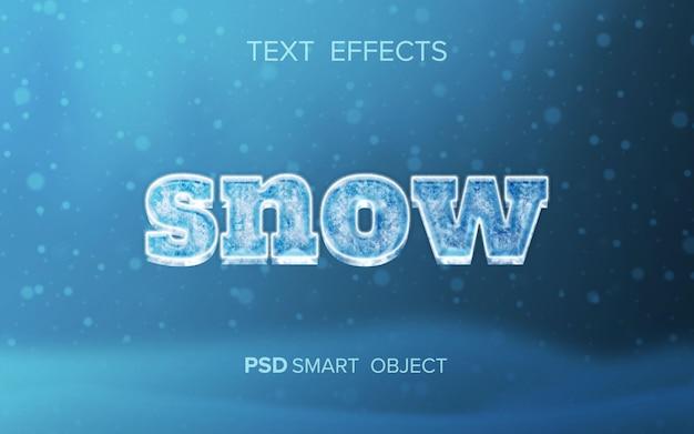 Efecto de texto de nieve