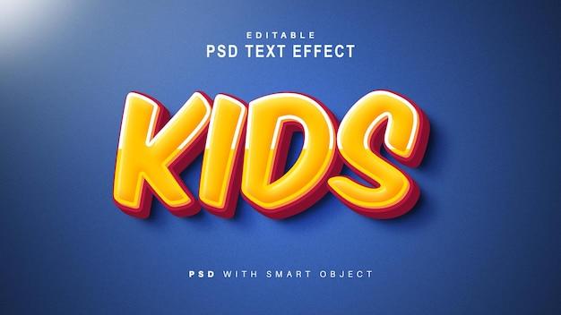 Efecto de texto para niños