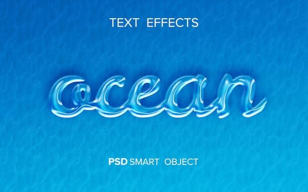 Efecto de texto océano