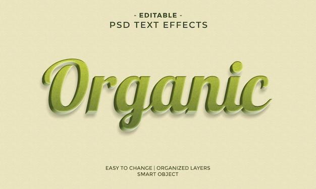 Efecto de texto orgánico colorido moderno