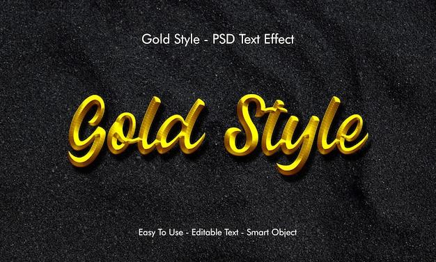 Efecto de texto de oro