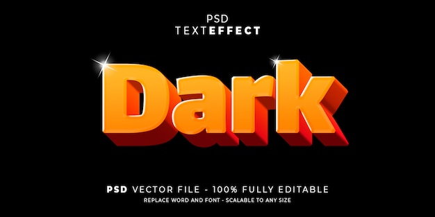 Efecto de texto oscuro