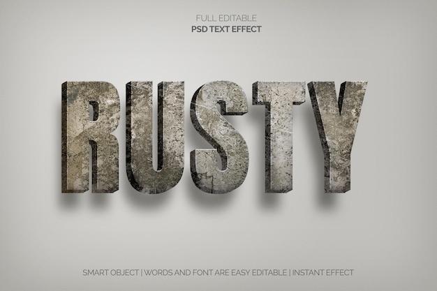 Efecto de texto oxidado