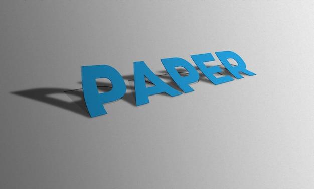 Efecto de texto de papel