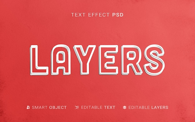 Efecto de texto en papel