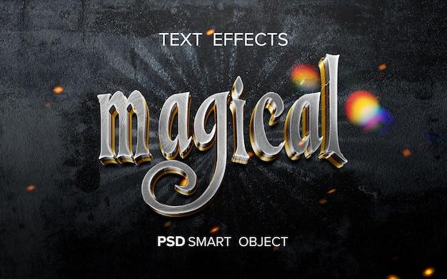 Efecto de texto de película de fantasía