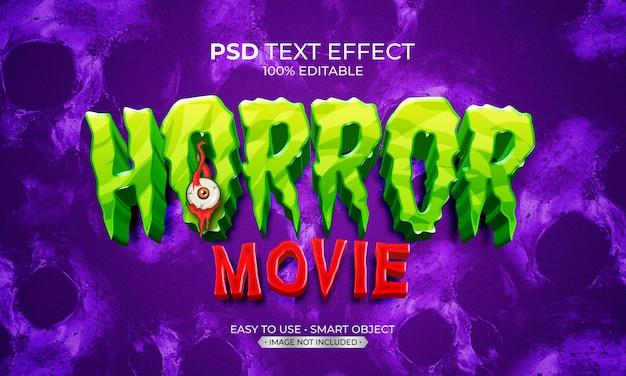 Efecto de texto de película de terror