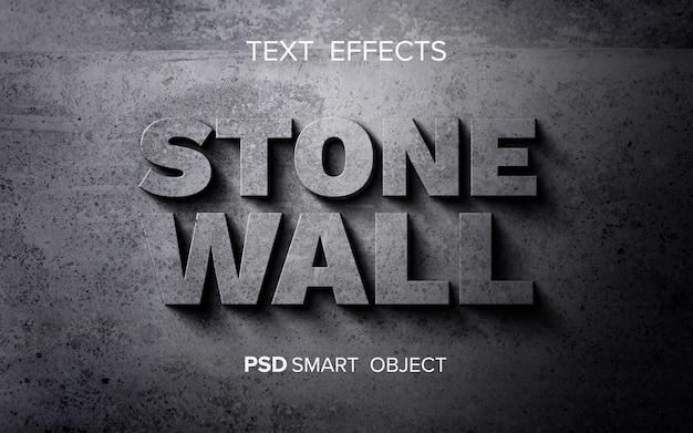 Efecto de texto de piedra abstracta