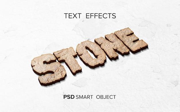 Efecto de texto piedra estilizada