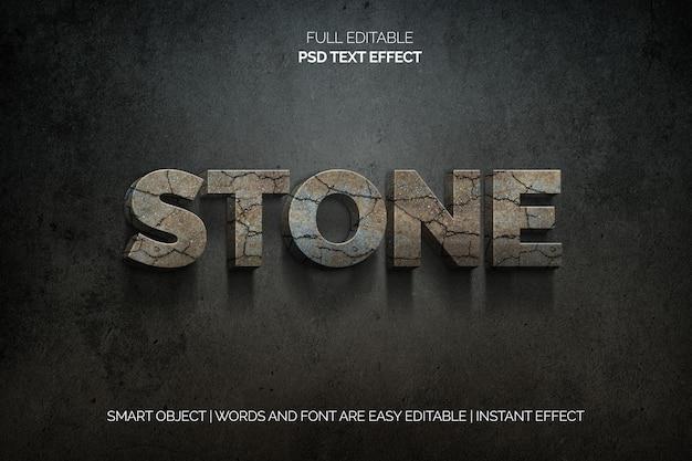 Efecto de texto de piedra