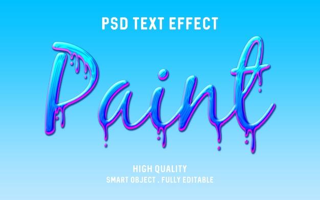 Efecto de texto de pintura de goteo realista