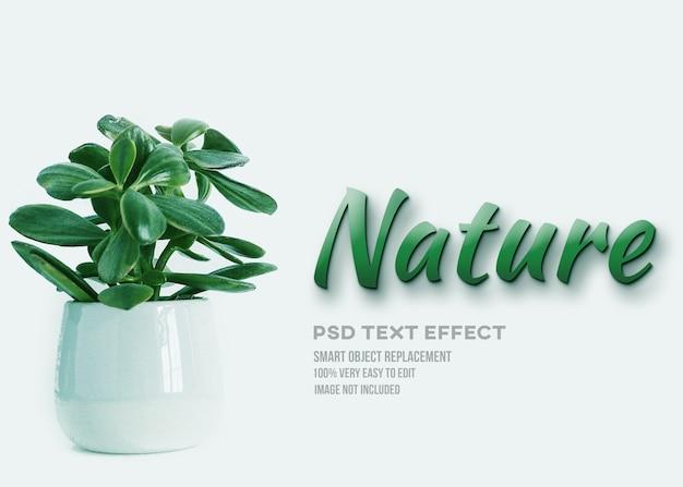 Efecto de texto de planta de naturaleza verde