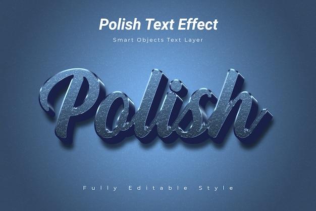 Efecto de texto polaco
