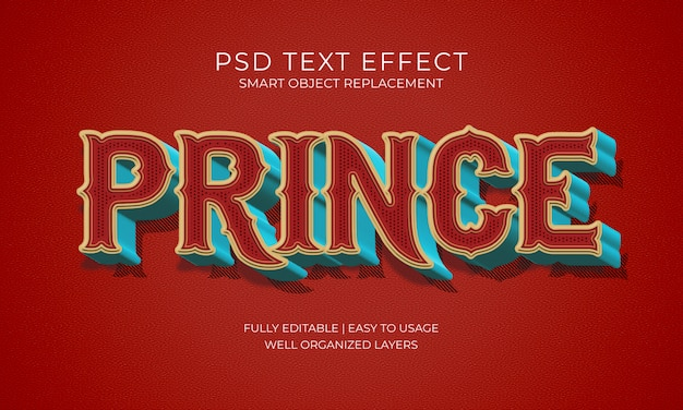 Efecto texto principe