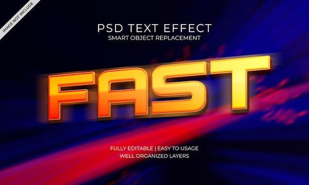 Efecto de texto rápido