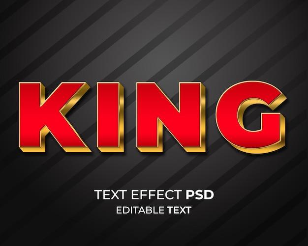 Efecto de texto red goldv