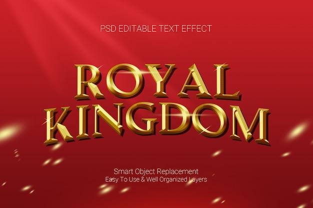 Efecto de texto del reino real