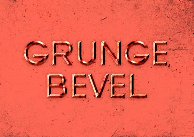 Efecto de texto en relieve con estilo grunge