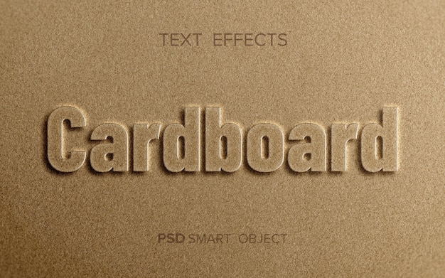 Efecto de texto en relieve limpio