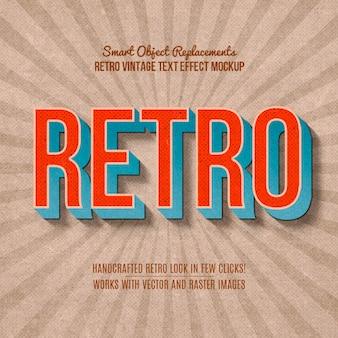 Efecto de texto retro vintage