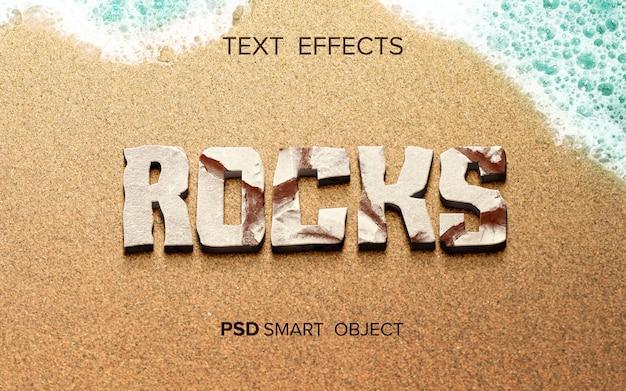 Efecto de texto de roca abstracta