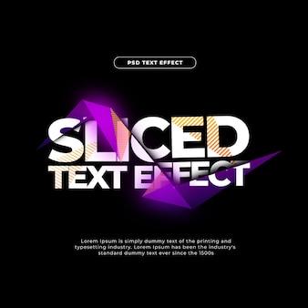 Efecto de texto en rodajas