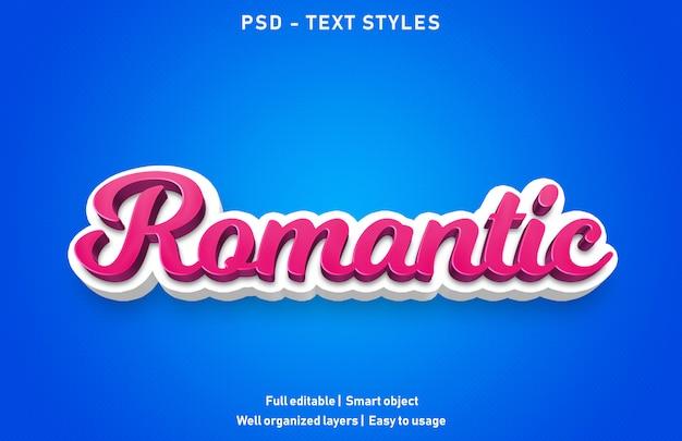 Efecto de texto romántico