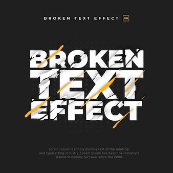 Efecto de texto roto dividido rasgado
