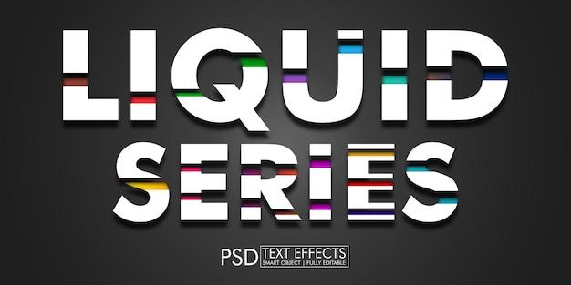 Efecto de texto de la serie líquida